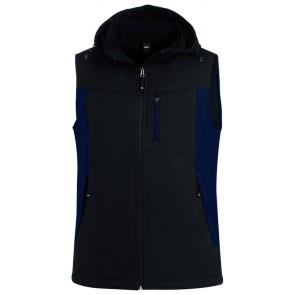 FHB Justus Softshell-Gilet Marineblauw-Zwart