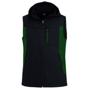 FHB Justus Softshell-Gilet Groen-Zwart