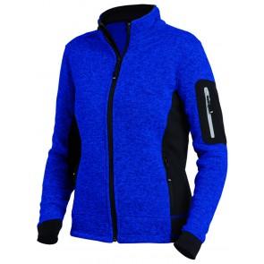 FHB Marieke Damesvest Tricotfleece Korenblauw-Zwart